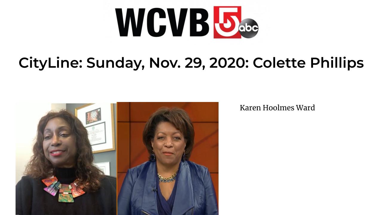 WCVB: CityLine: Sunday Nov. 29th
